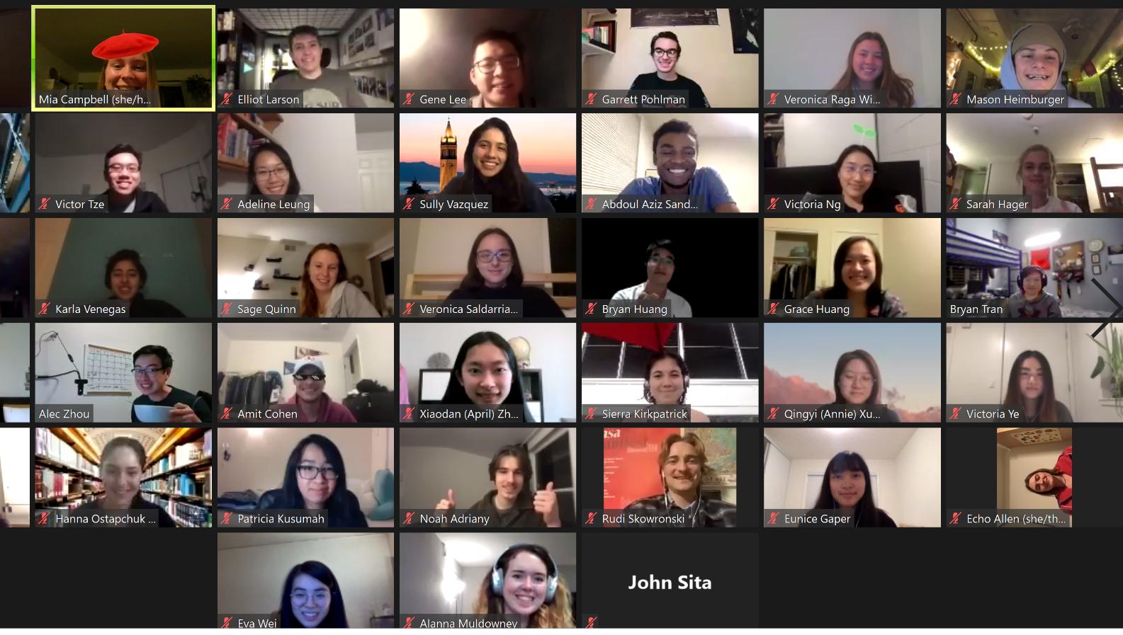 Members at one of our weekly team meetings!