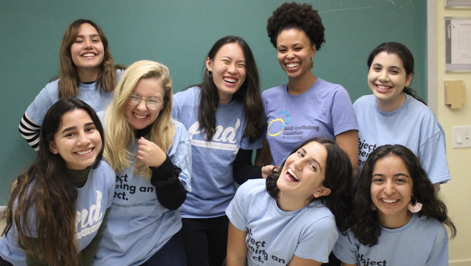 A few members from out Anti-Trafficking Coalition at Berkeley team!