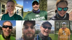 Faculty and Staff Run to Support Babson Students
