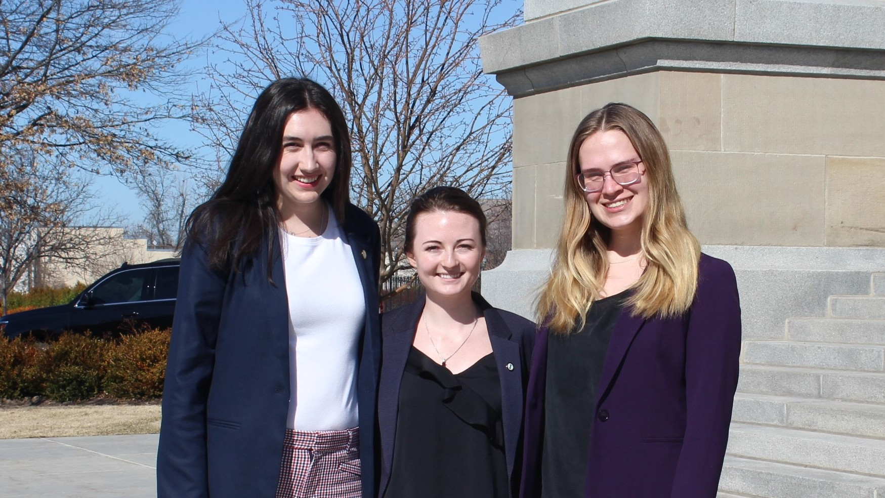 2020 McClure Legislative Research Scholars: Madeleine Curtright, Megan Smith and Mary Alice Taylor