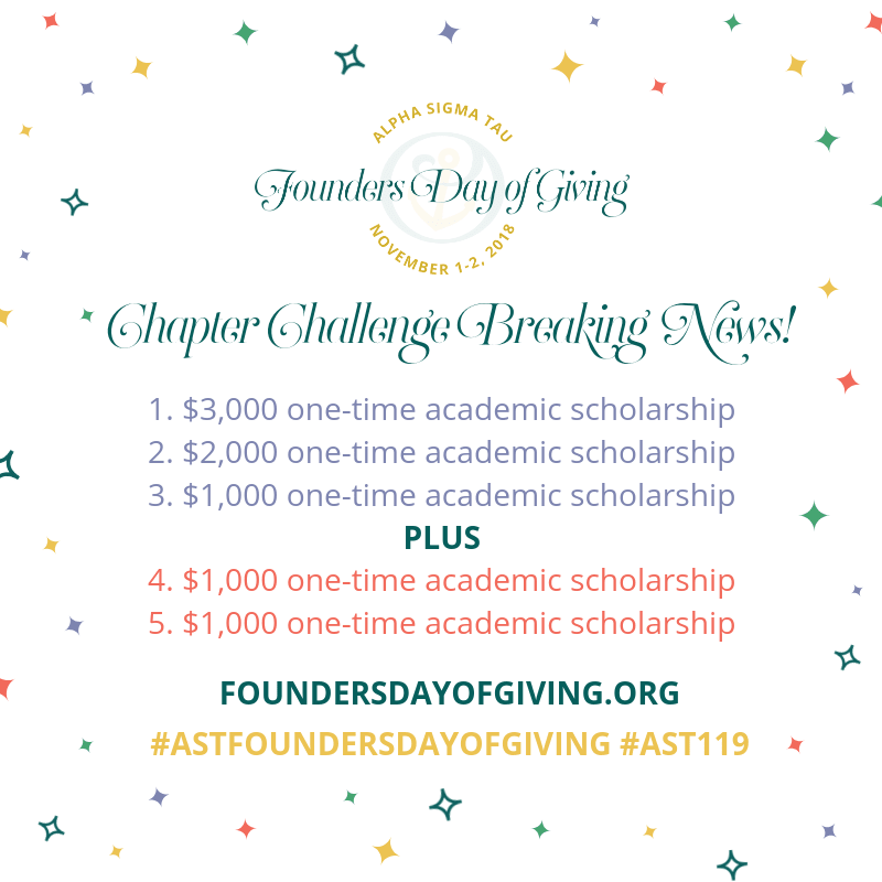 Image for Update: BREAKING NEWS! Two Additional Chapter Challenge Scholarships Added!