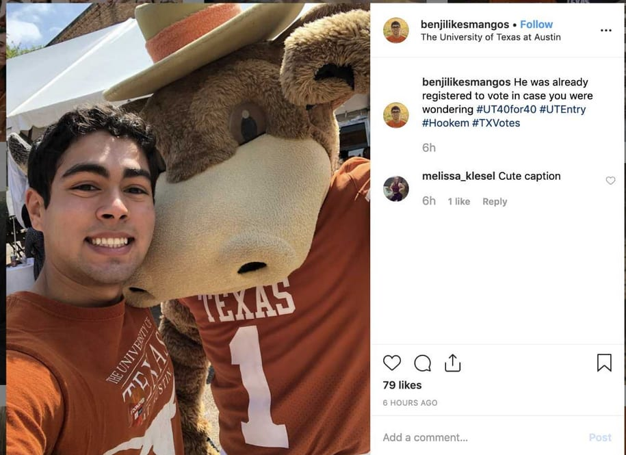 Image for Update: Congratulations to the Winner of the Longhorn Pride Selfie Contest!
