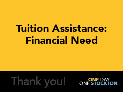 Tuition Assistance: Financial Need Tile Image