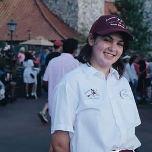 Elyssa Needle, pictured in a Disney Cast uniform