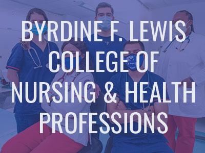 Byrdine F. Lewis College of Nursing & Health Professions Tile Image