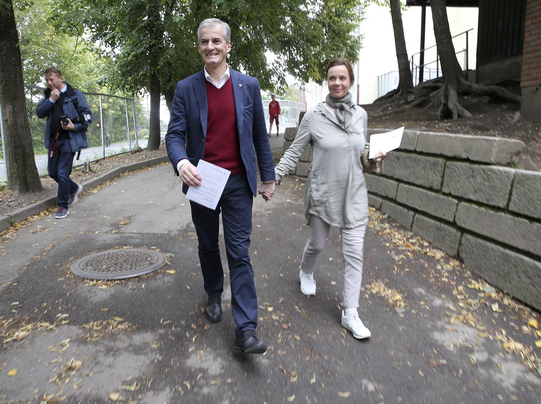 Jonas Gahr Støre og kona Marit Slagsvold. (Foto: NTB scanpix / Terje Pedersen)