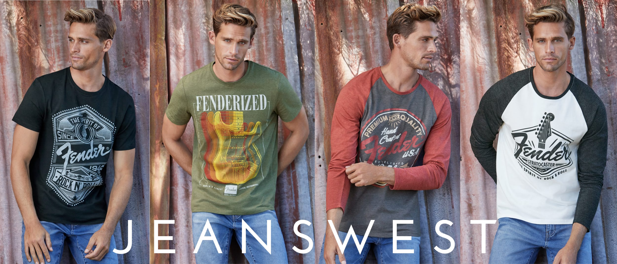 Jeanswest: Fender tees collection