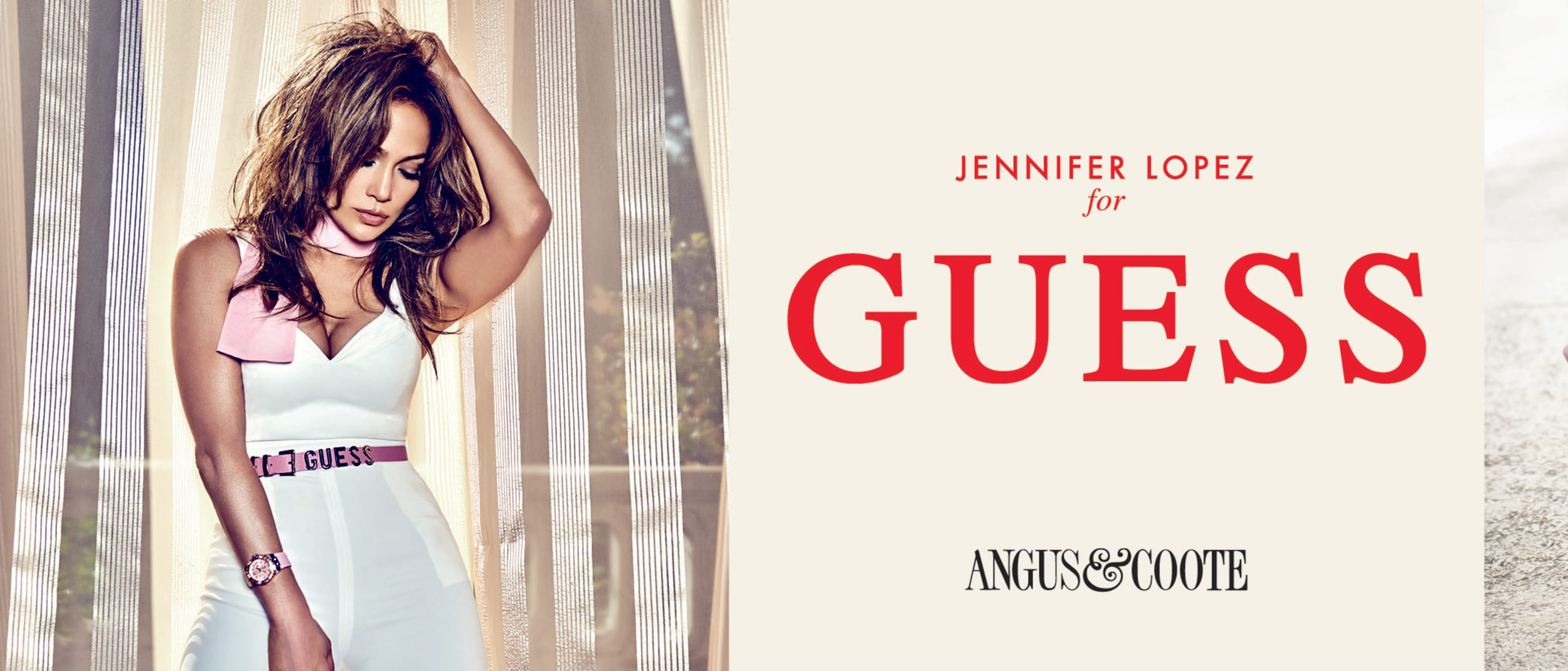 Angus and Coote: Guess pretty in pink watch