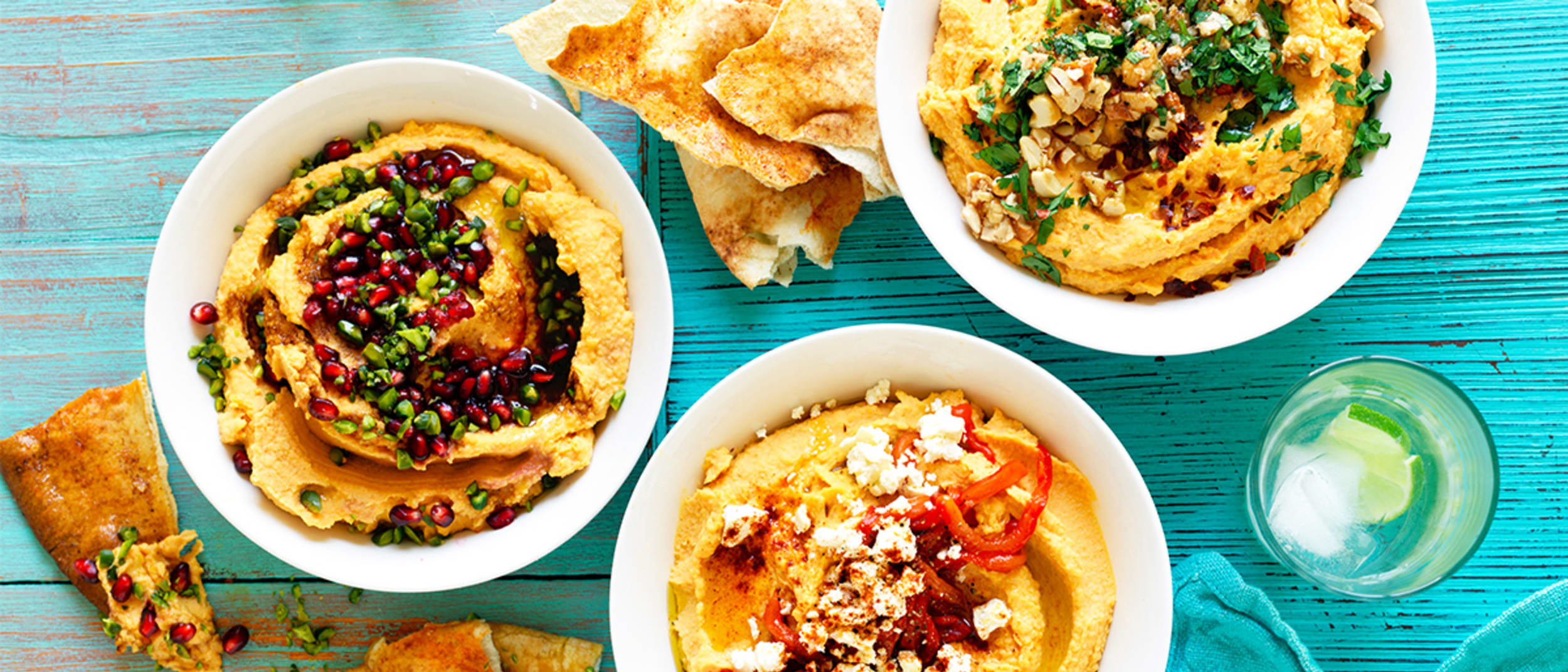 Sweet potato hummus – 3 ways