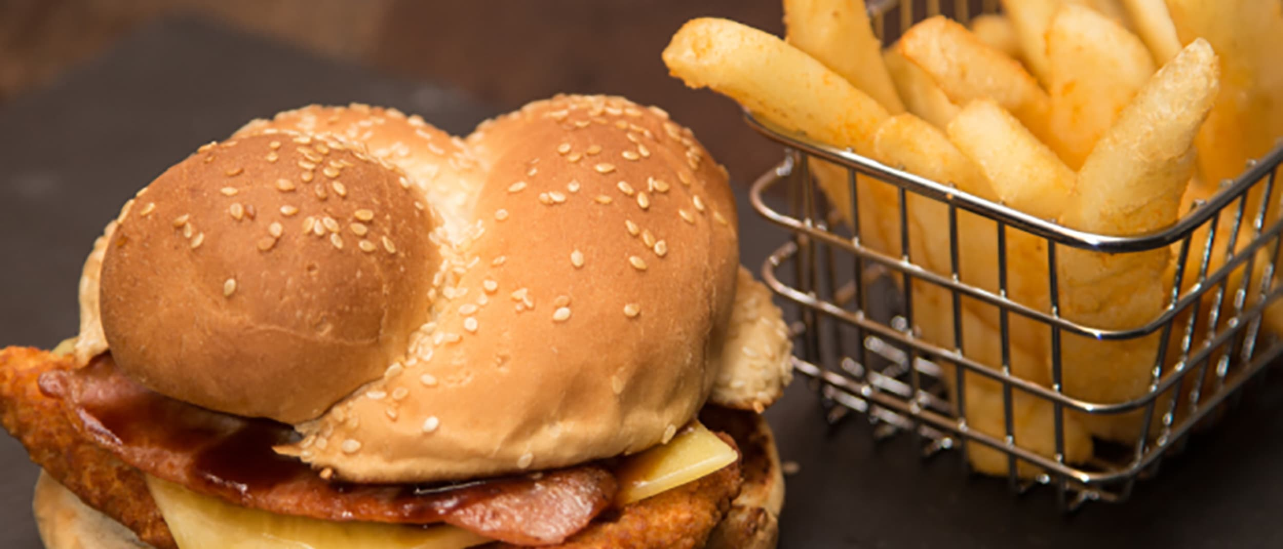 Bucking Bull: $10 chicken bacon cheese burger with chips