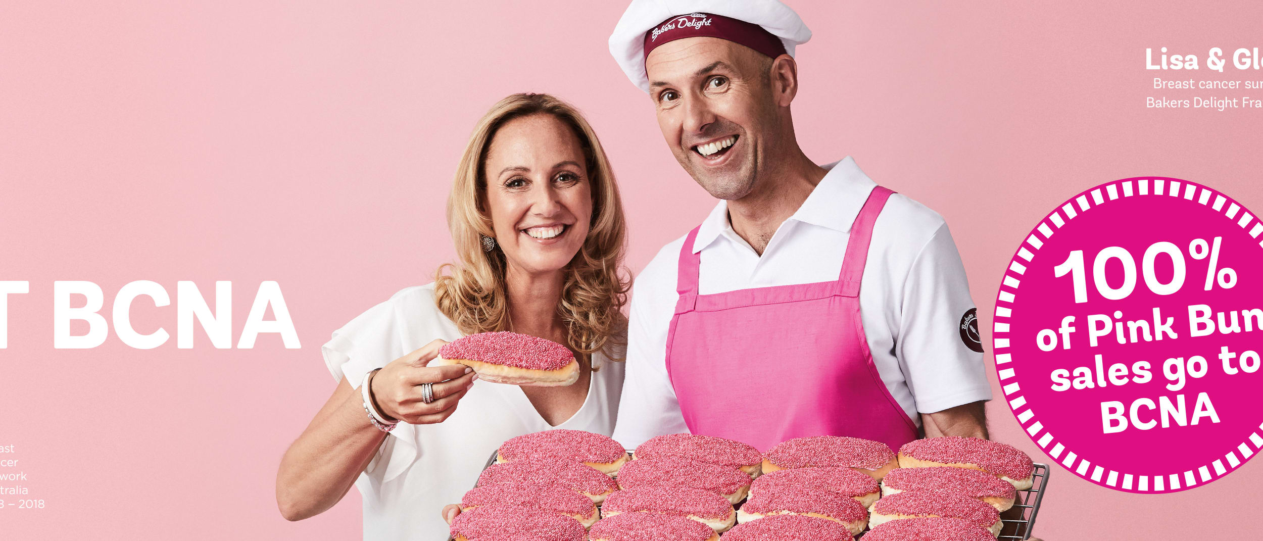 Bakers Delight pink bun campaign