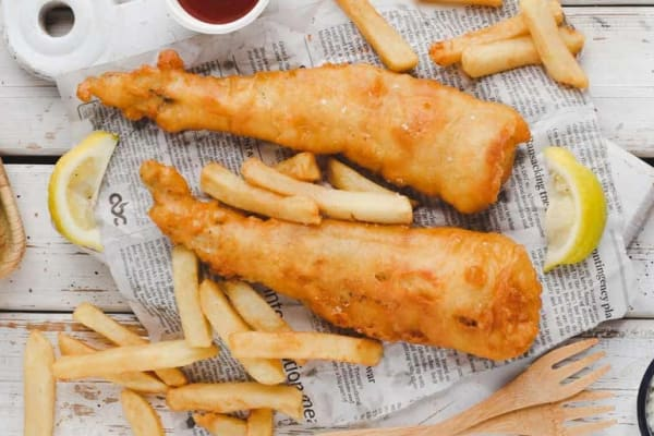 Barcella: beer battered fish and chips for $9.90