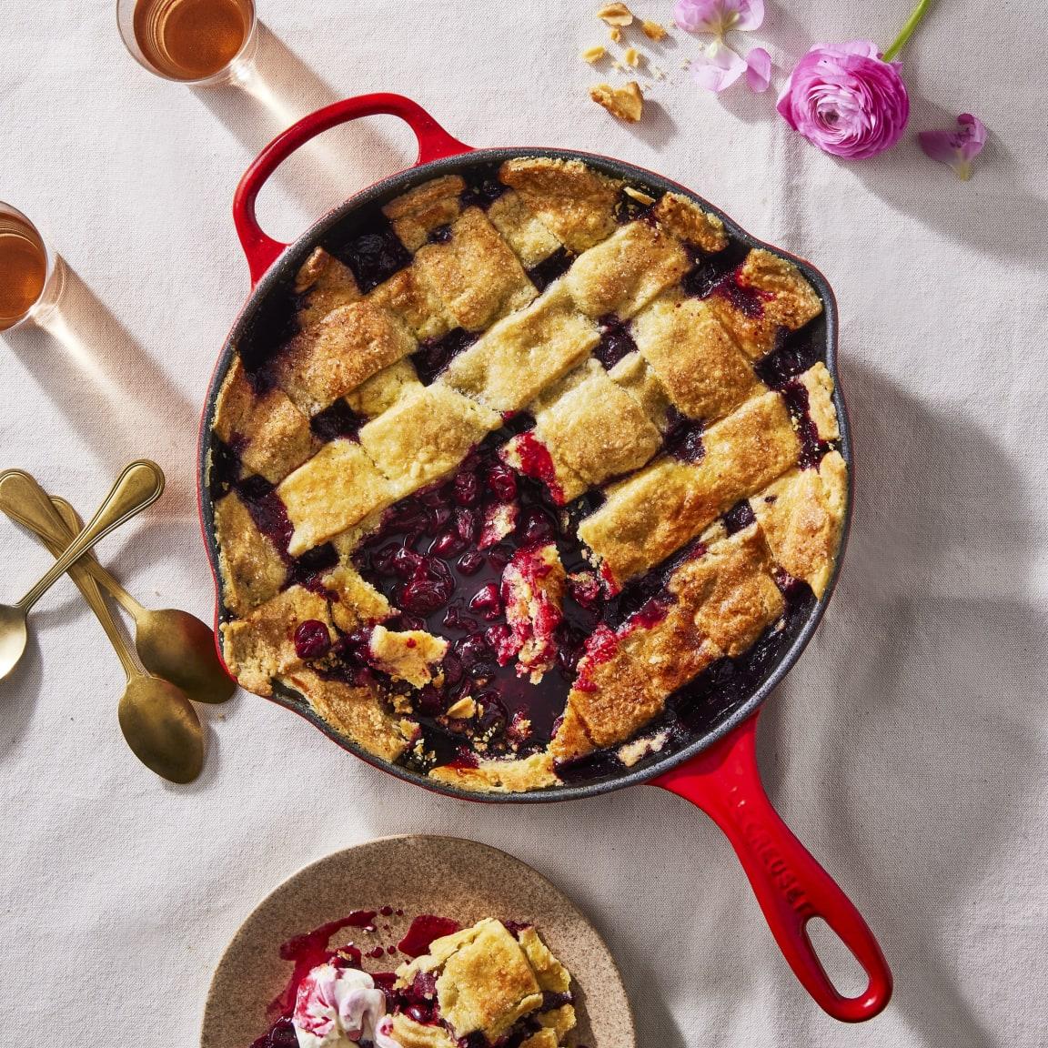 Recipe: Le Creuset - Cherry lattice pie