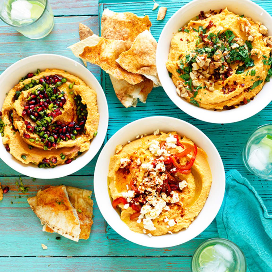Sweet potato hummus – 3 ways