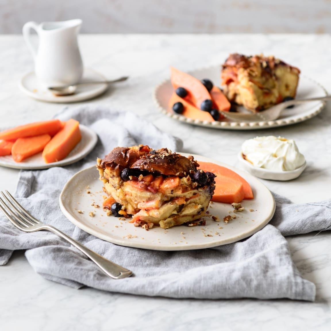 Recipe: Papaya French toast bake