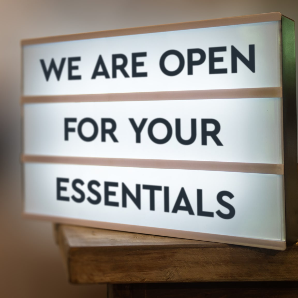 We are open for your essentials