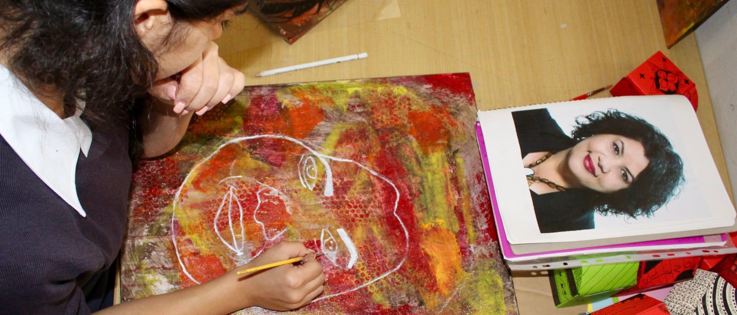 Liverpool Girls High School art display