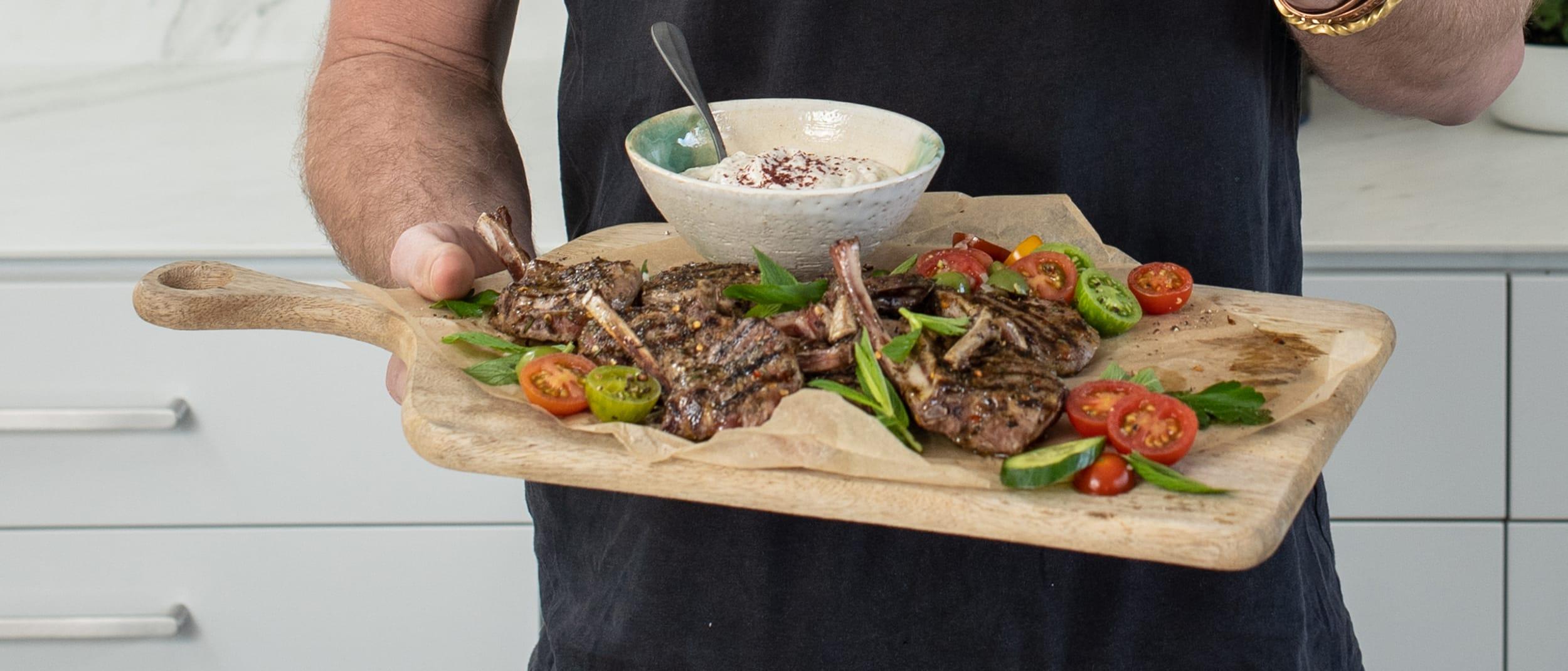 Mediterranean lamb cutlets