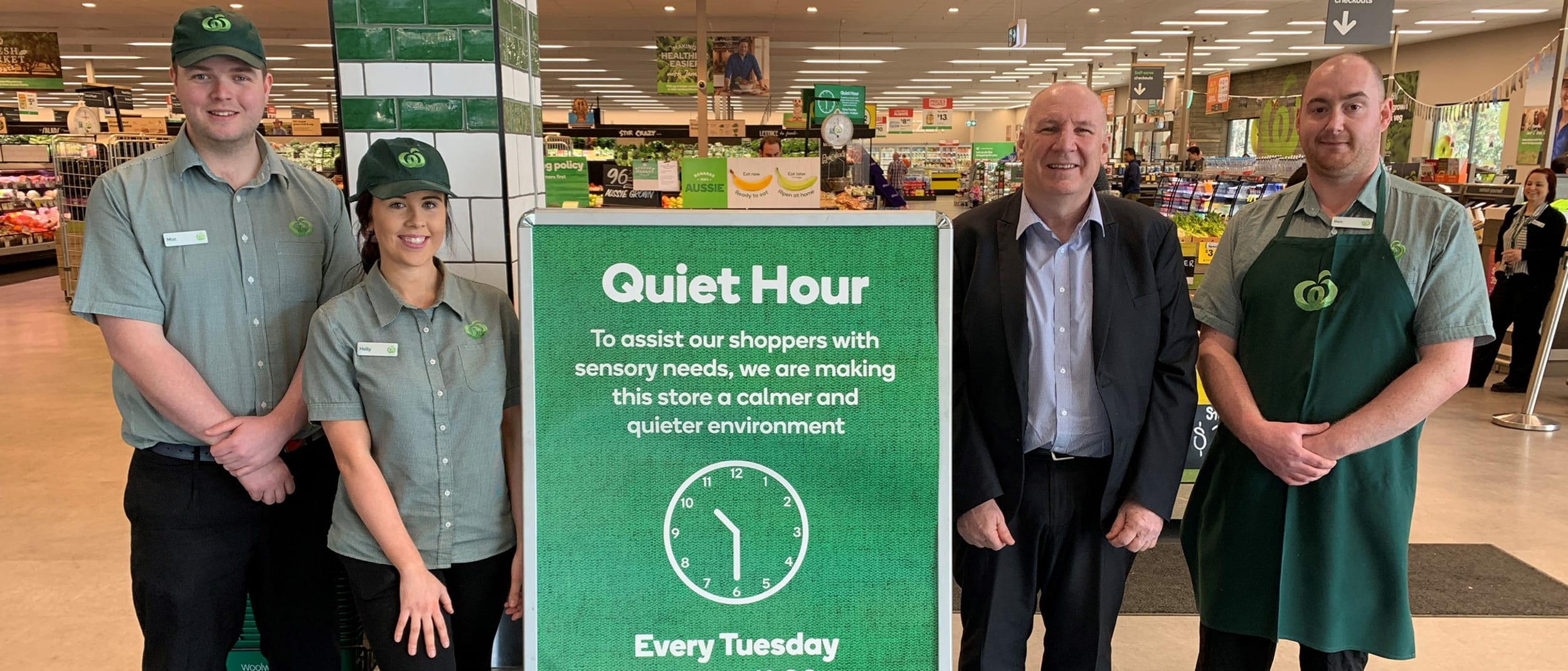 Woolworths roll out Quiet Hour