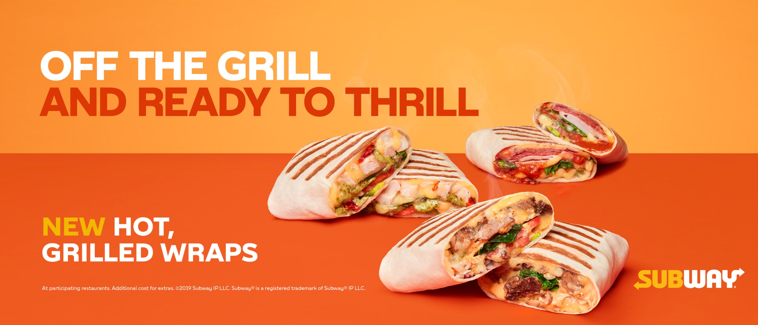 Subway offers new mouth-watering, hot, grilled wraps.