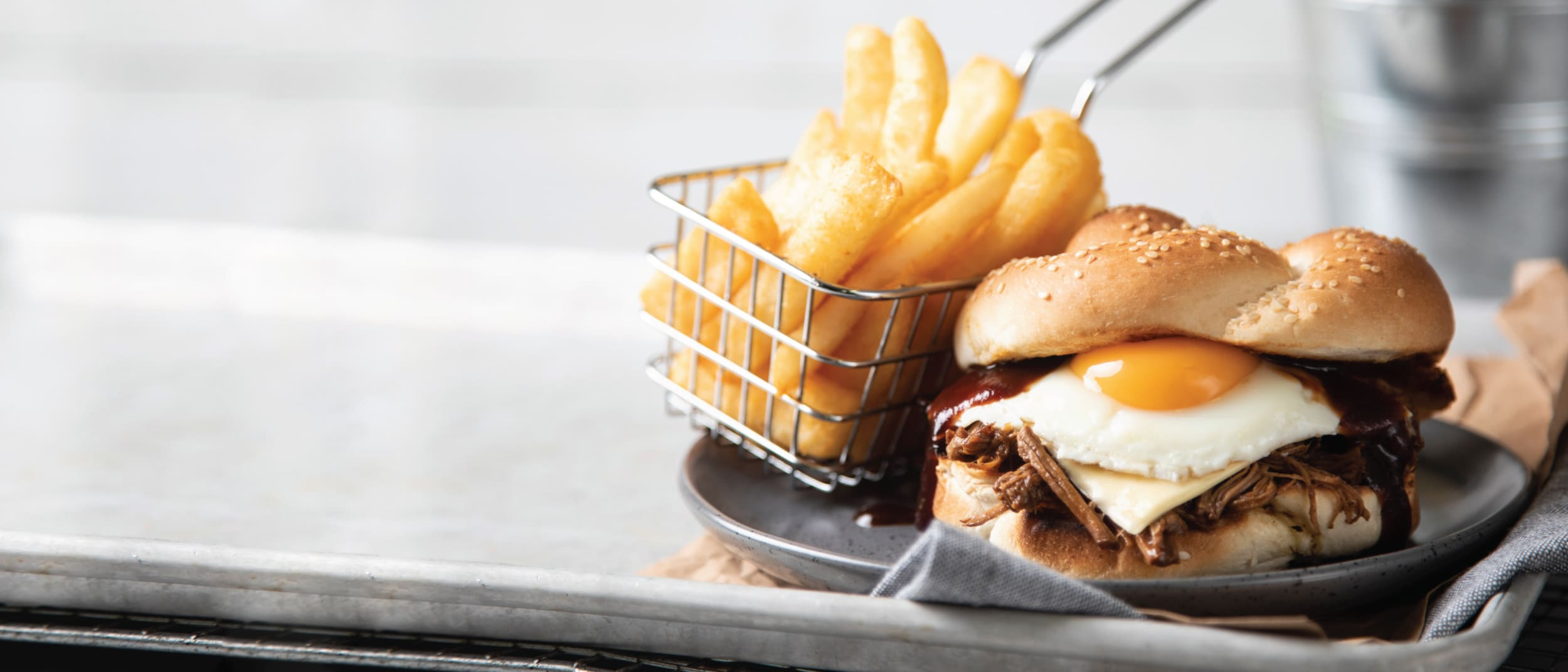 Brisket & egg burger now at Bucking Bull