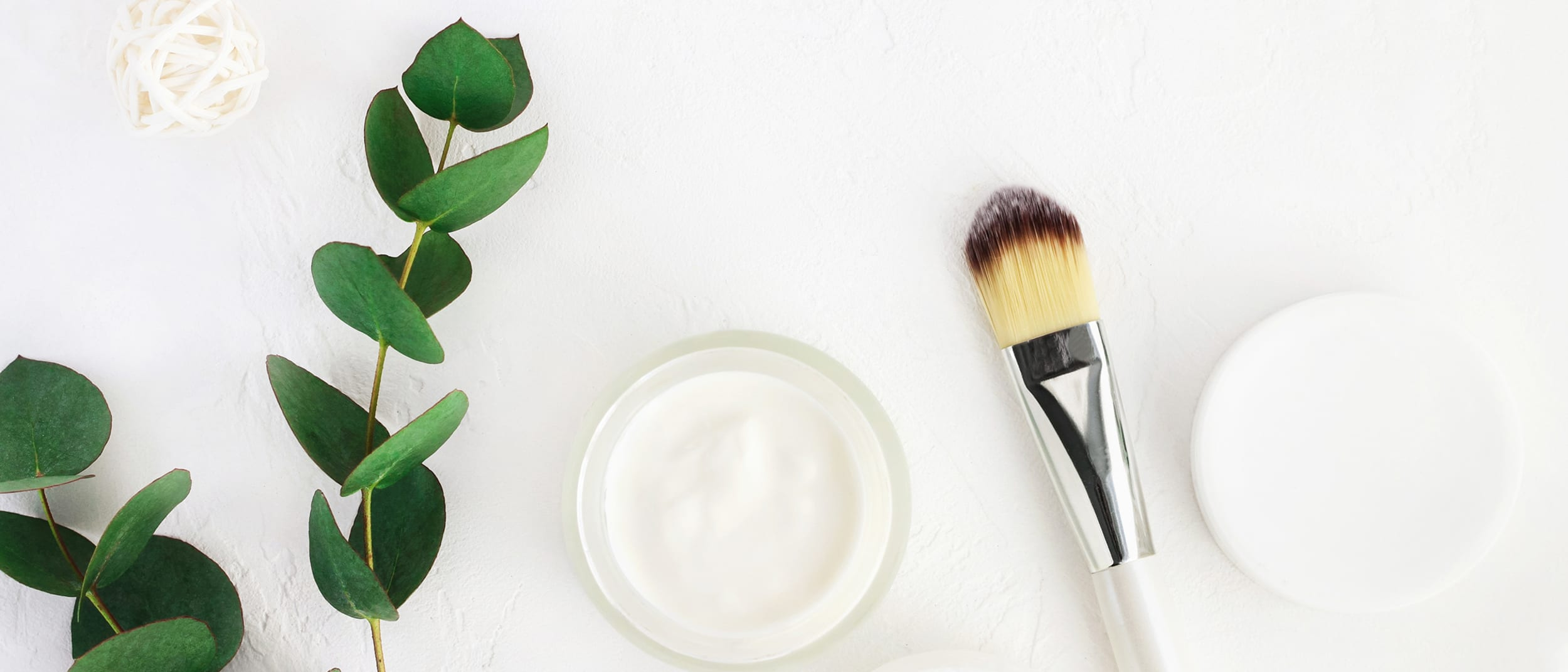 Makeup brush and cream
