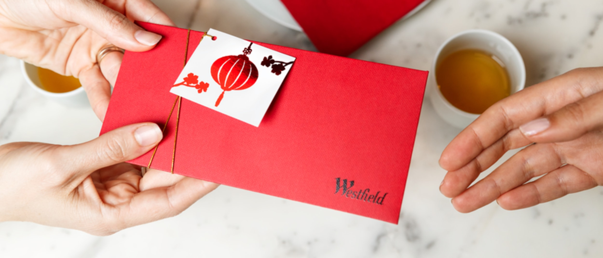 Lunar New Year gift idea: limited edition Westfield gift card tag