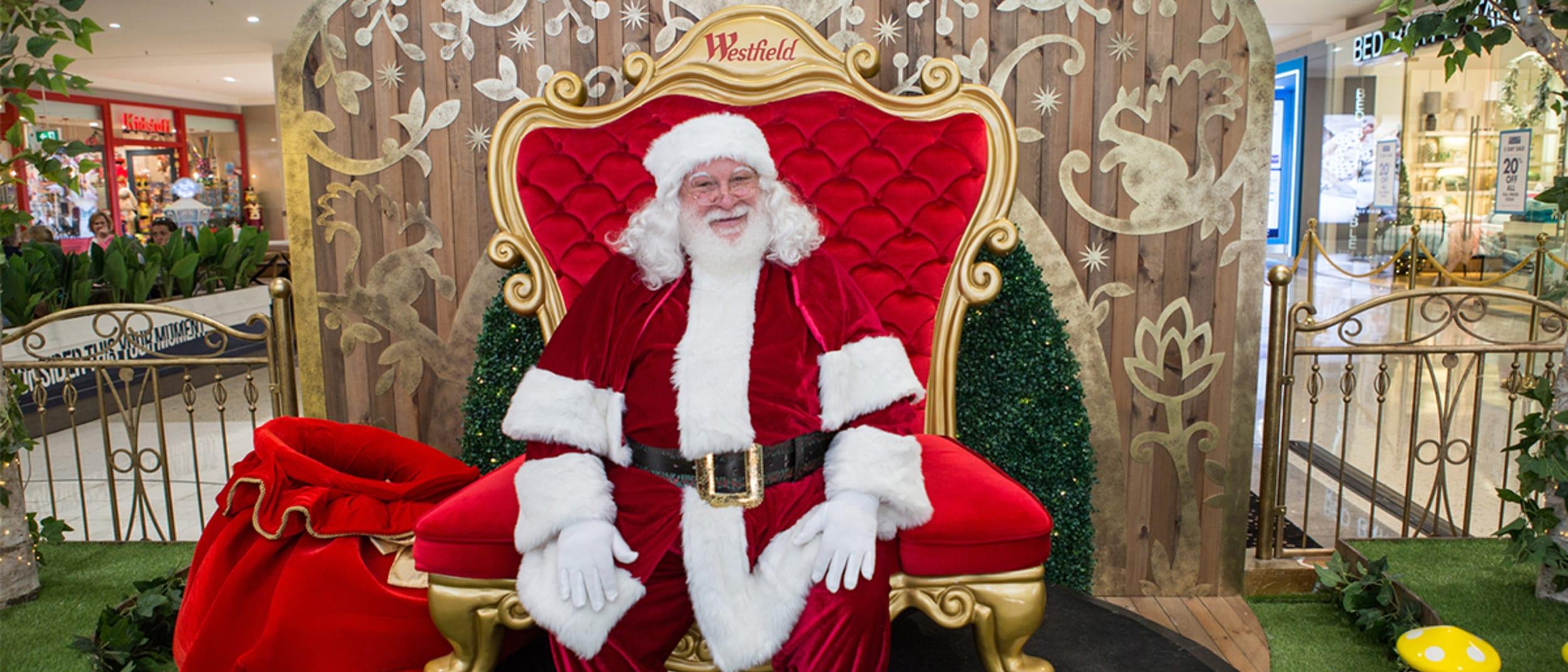 Santa photography at Westfield Kotara