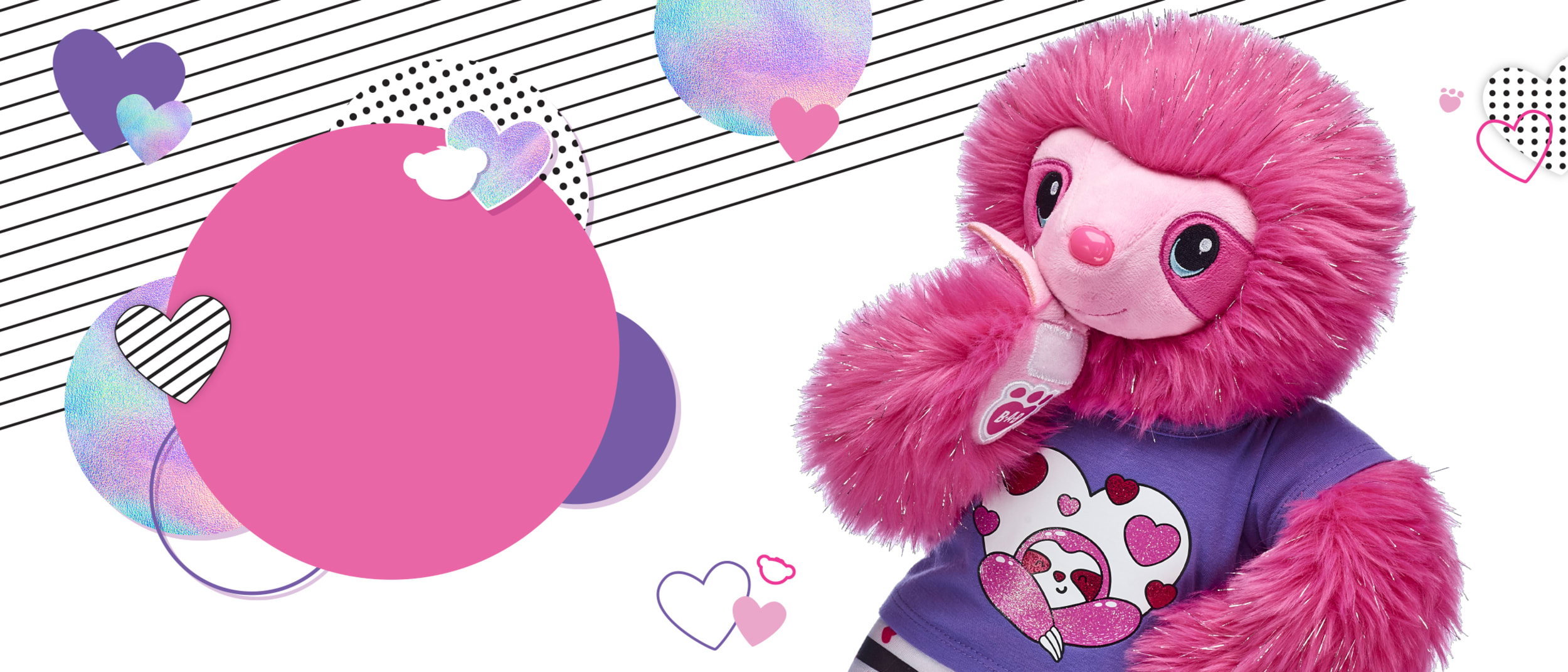 Pink Fuzzy Sloth has arrived at Build-A-Bear Workshop