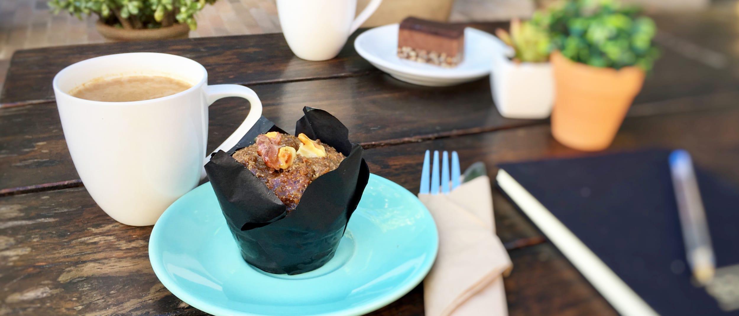 Organic Vegan Date and Walnut Muffin and Chai