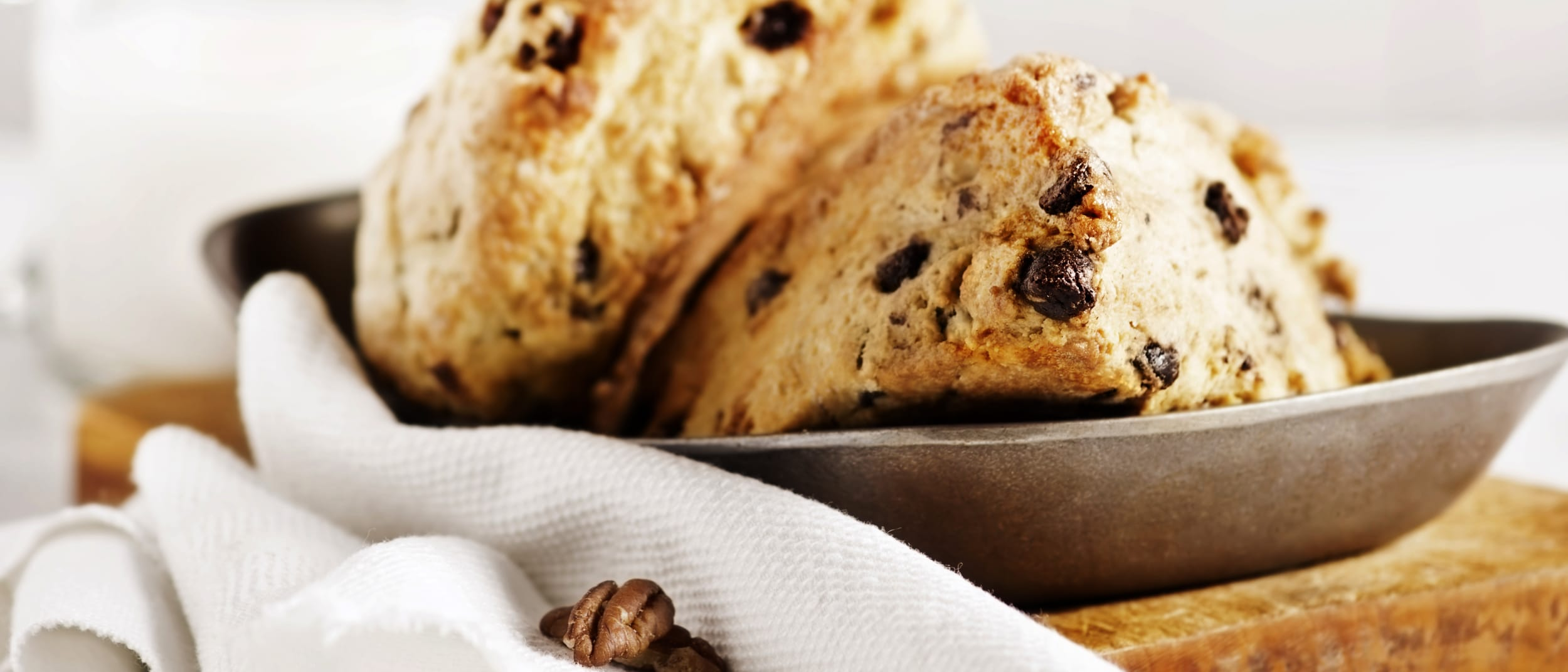 Bakers Delight: banana chocolate chip scones