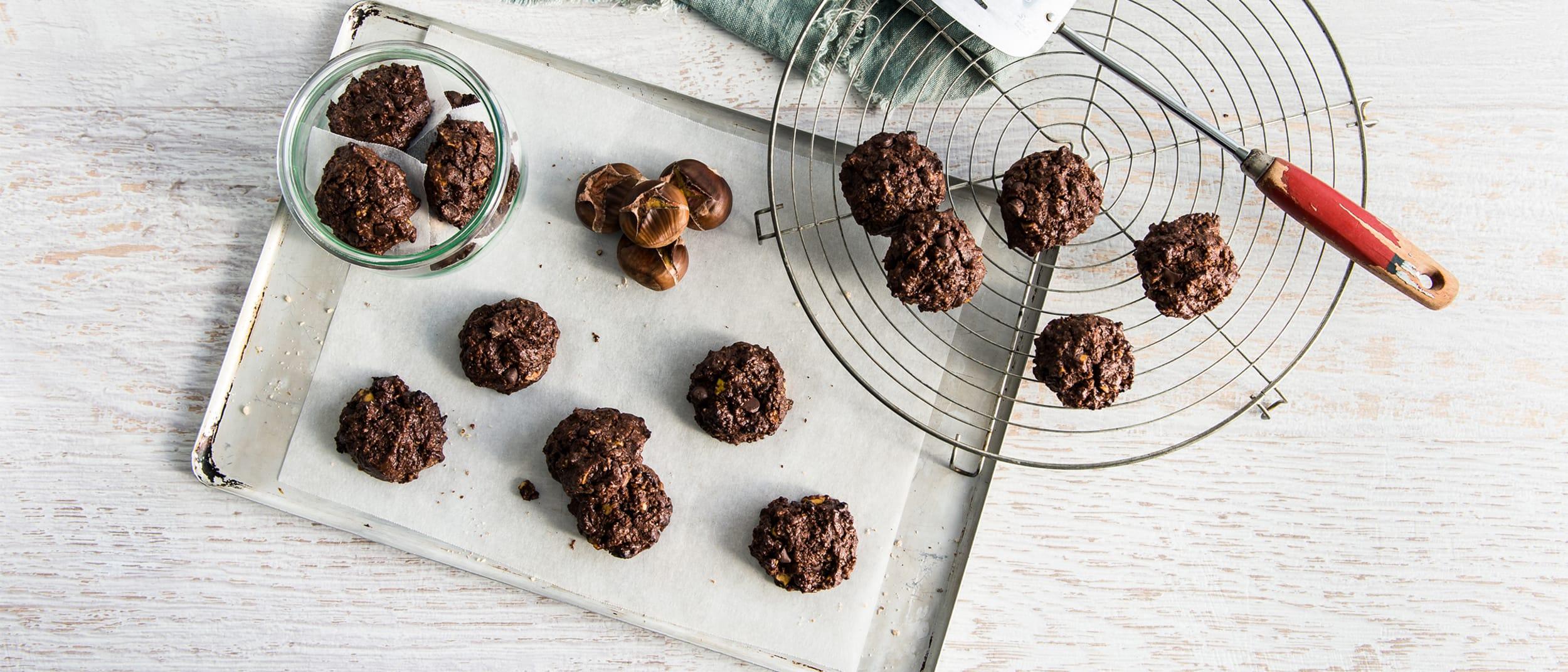 Gluten free choc chestnut brookie
