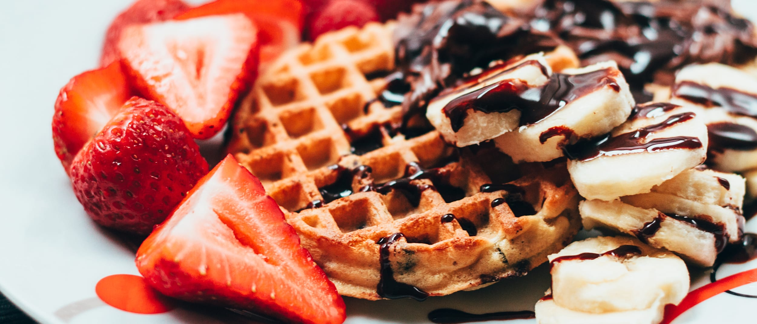 Beautiful hot waffles now available