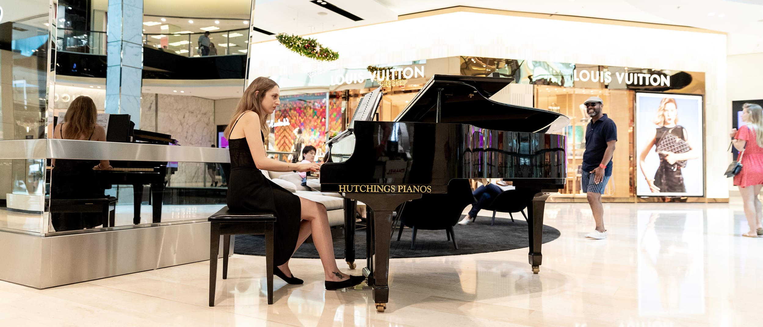 Enjoy the festive tunes of our playful pianists
