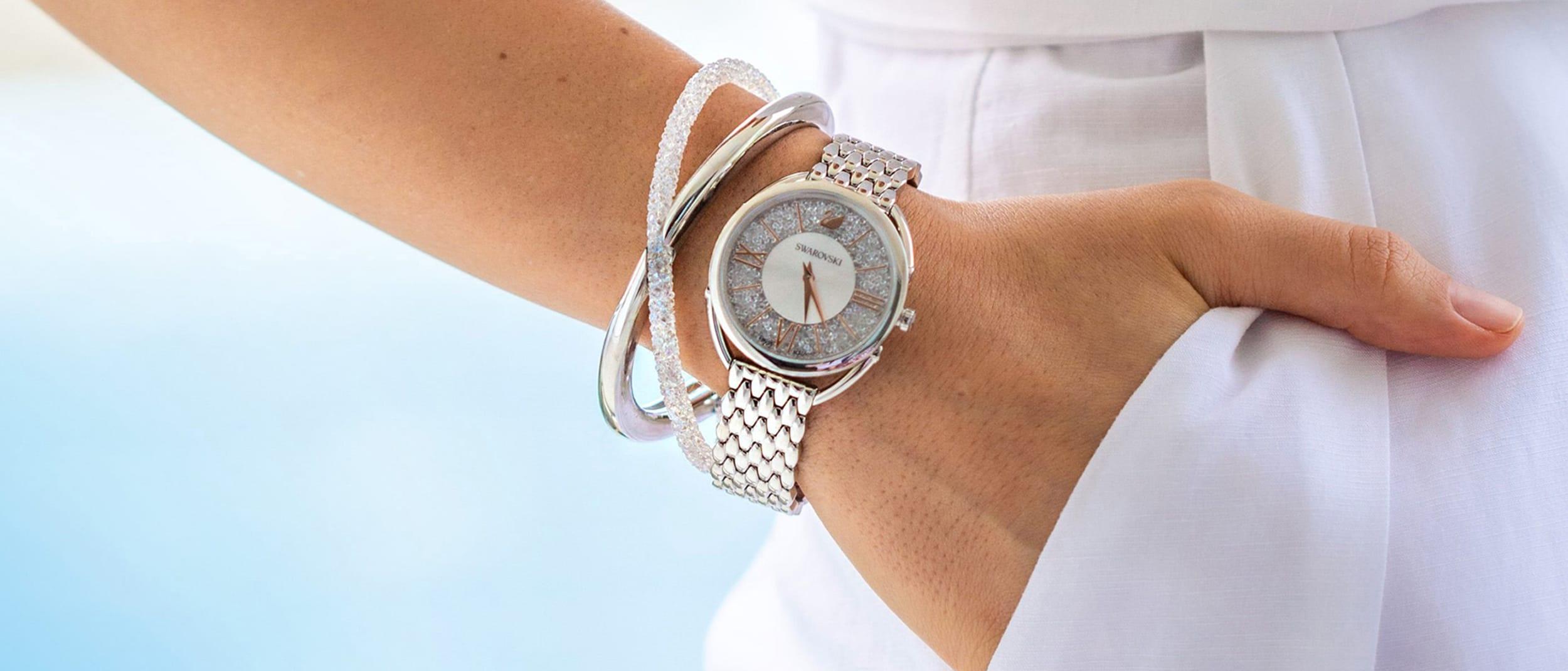 Swarovski: free bangle with every watch purchase