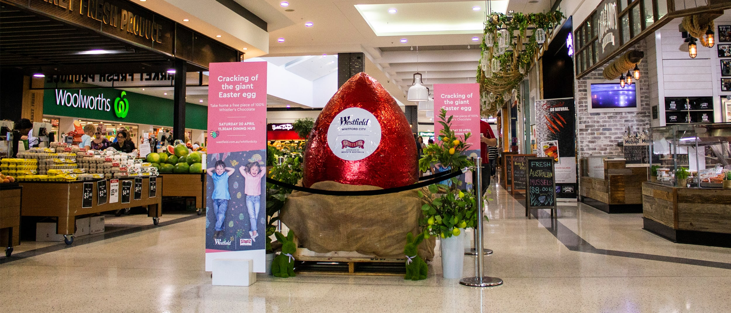 Witness the cracking of a giant Whistler's Chocolate egg