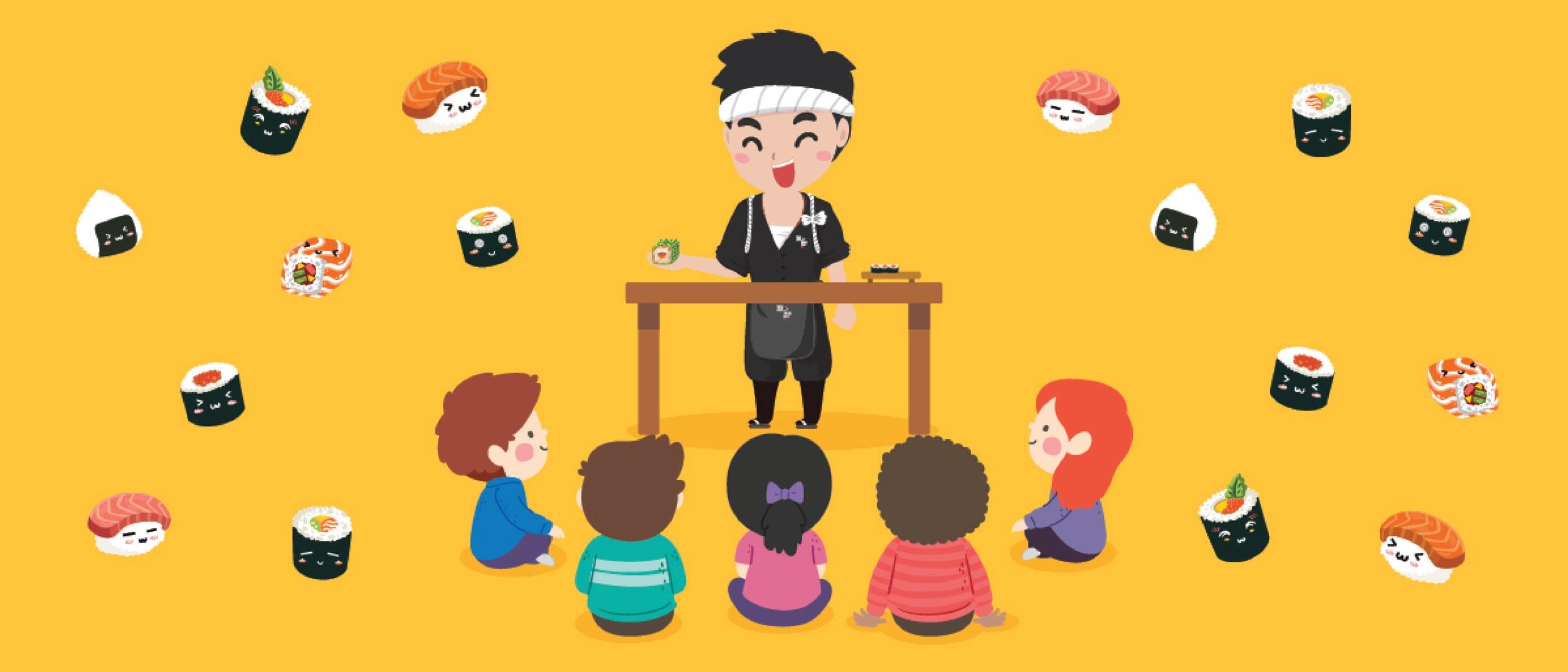 Kids Sushi Making Classes with Sushi Hub