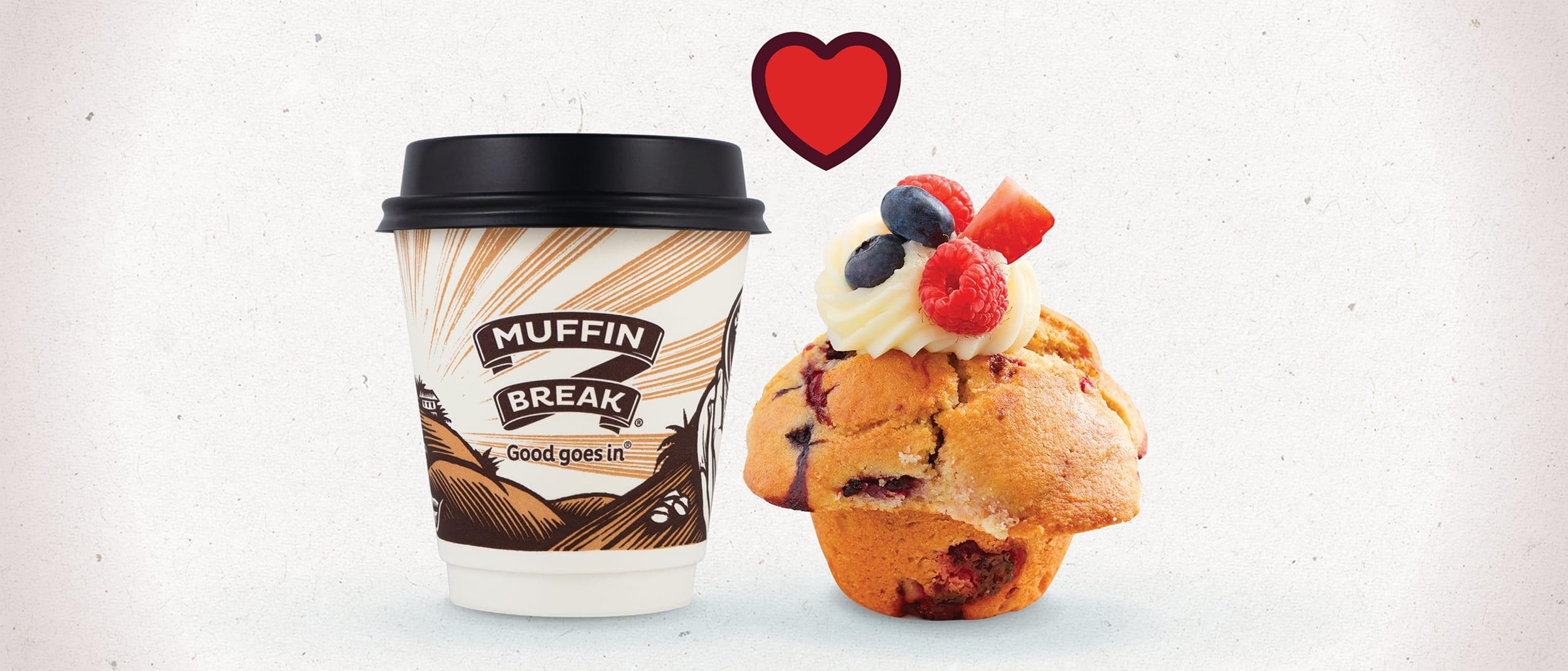 Muffin Break: $7.50 coffee & muffin