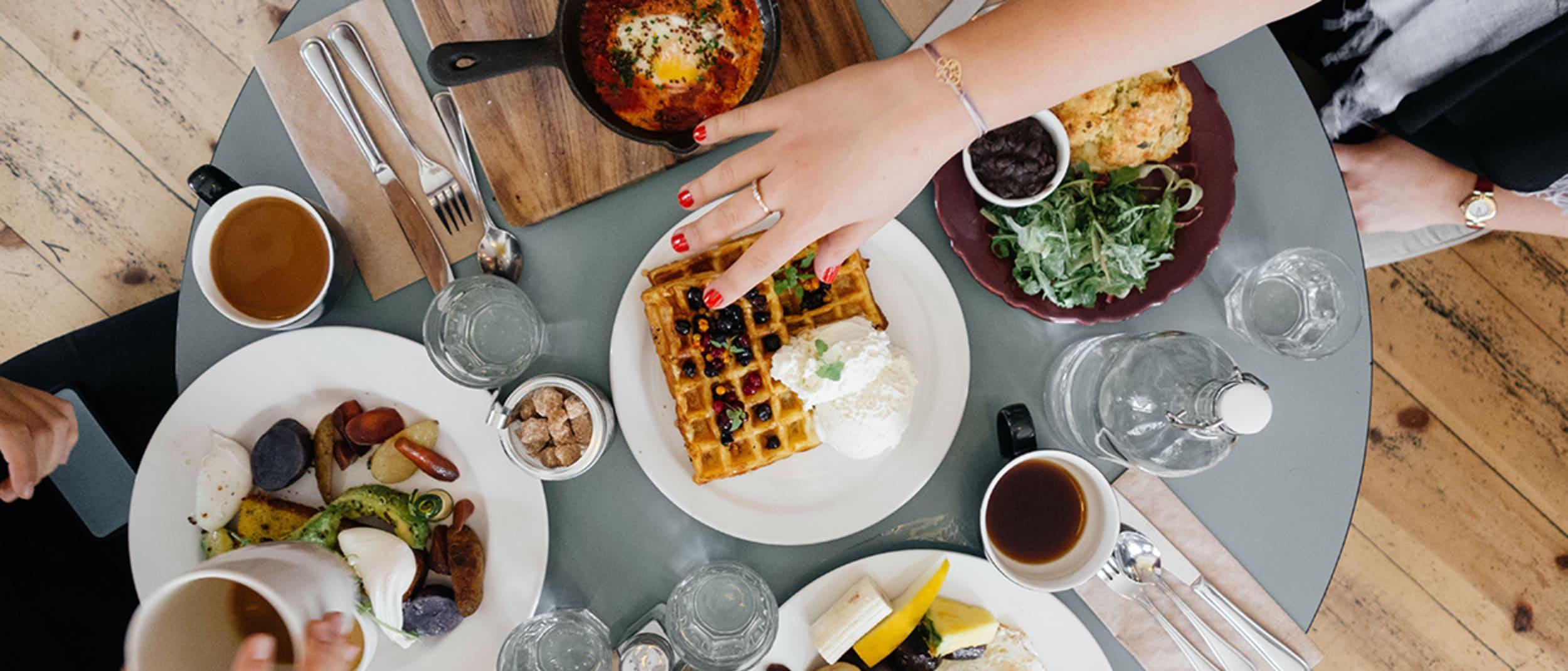 Breakfast on a table