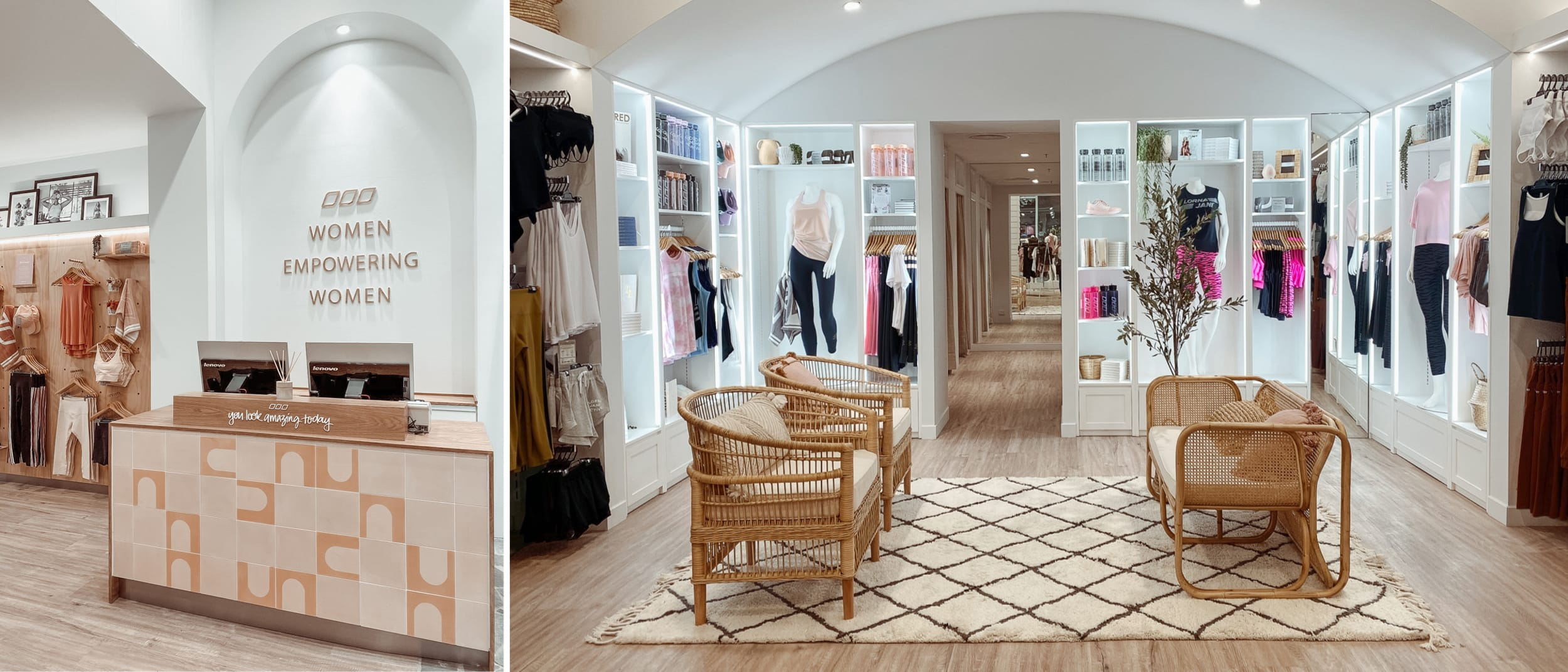 1:1 closed door styling sessions now available at Lorna Jane