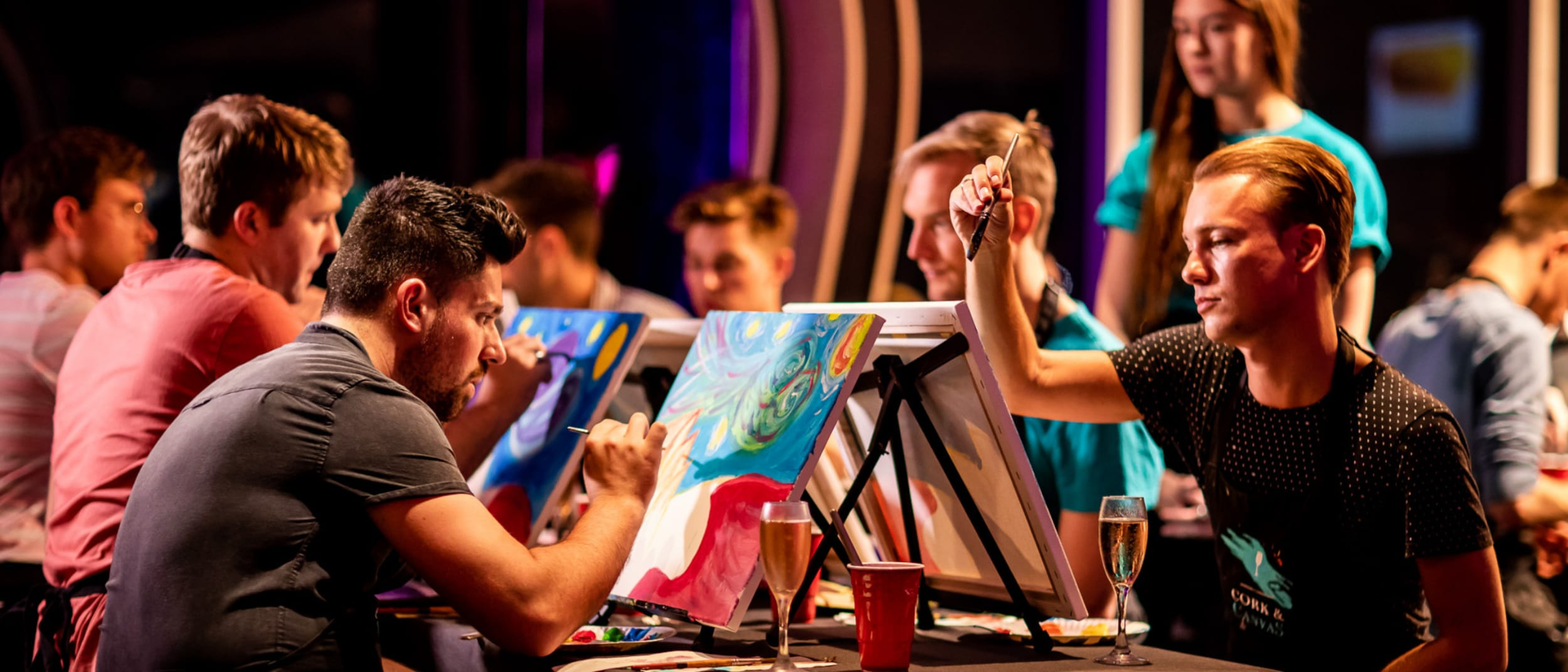 Drink. Paint. Create. Cork and Canvas at Event Cinemas