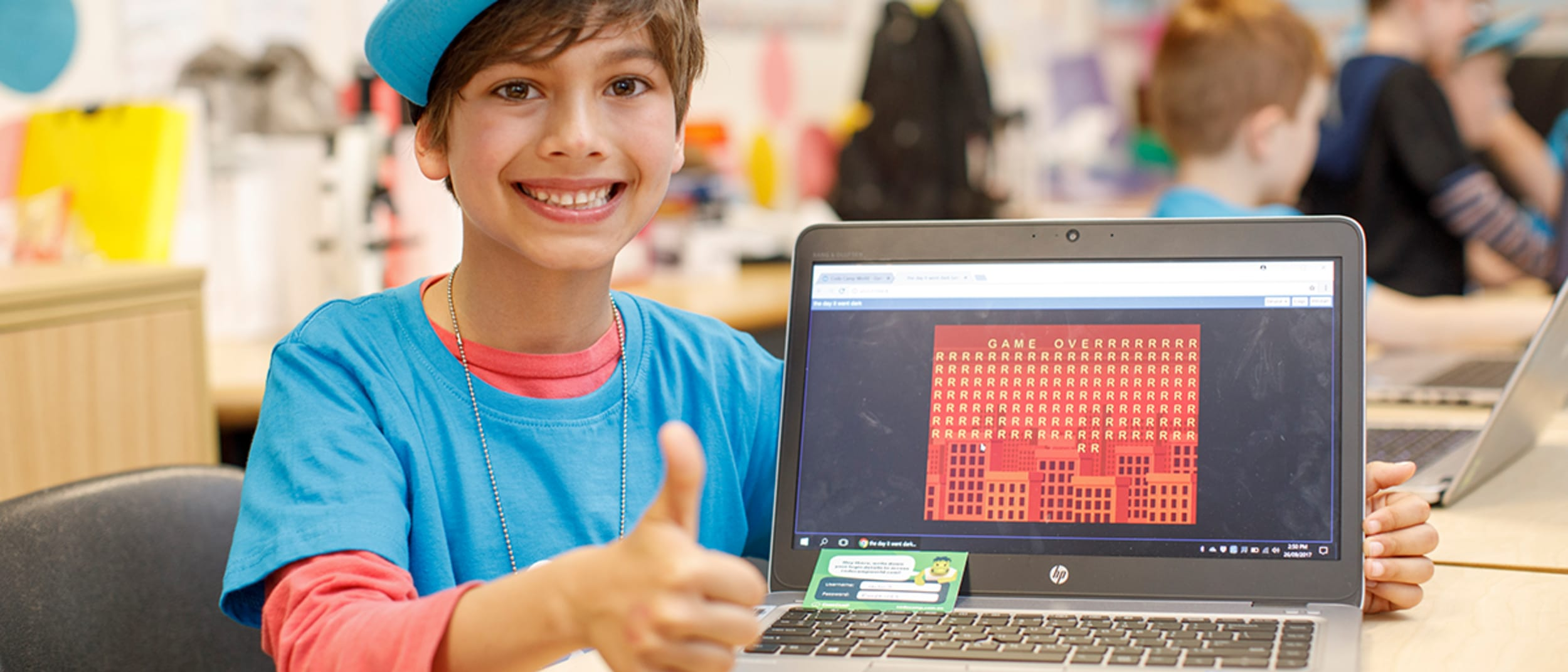 Create your own computer game at Code Camp! Book now!