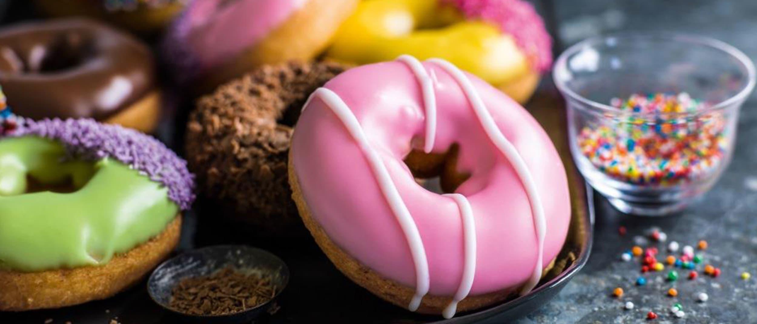 Donut King: Regular coffee & 2 cinnamon donuts $5.40