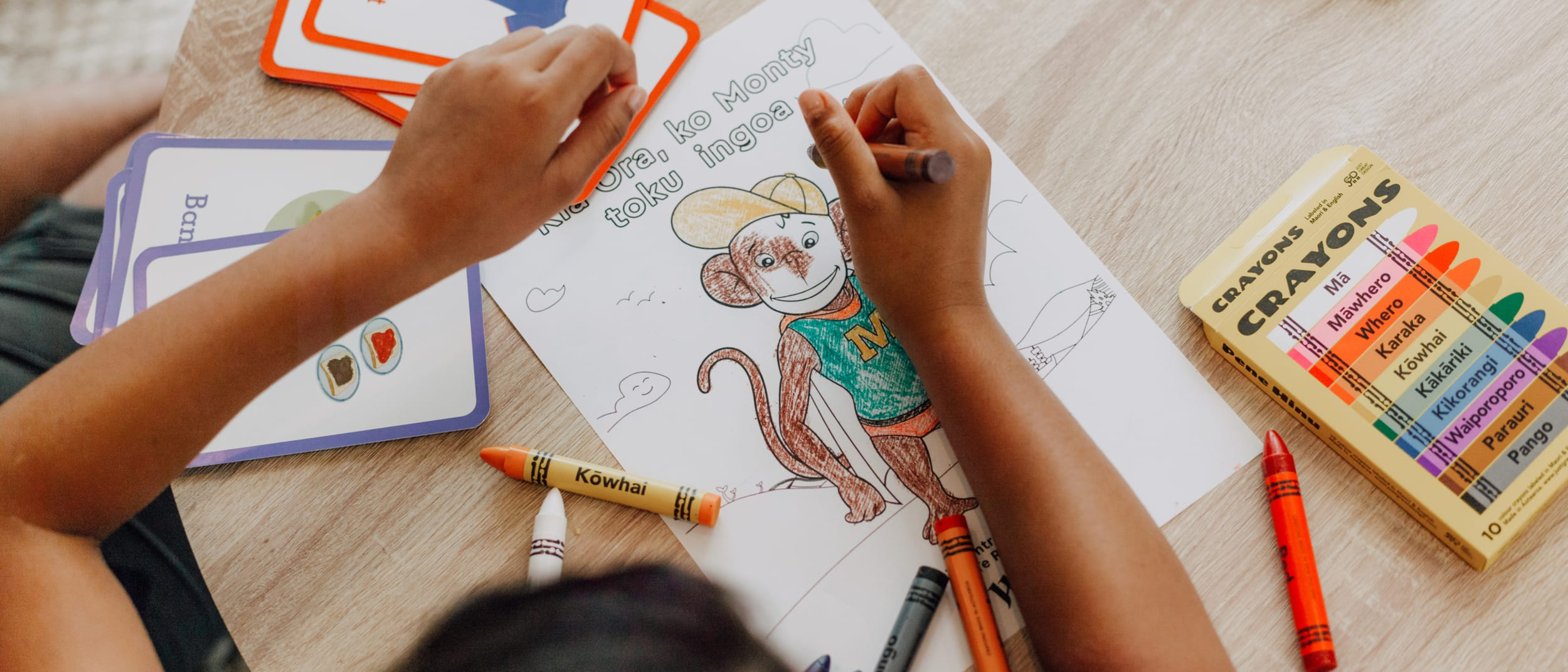 Learn some basic Māori words with Monty the Monkey