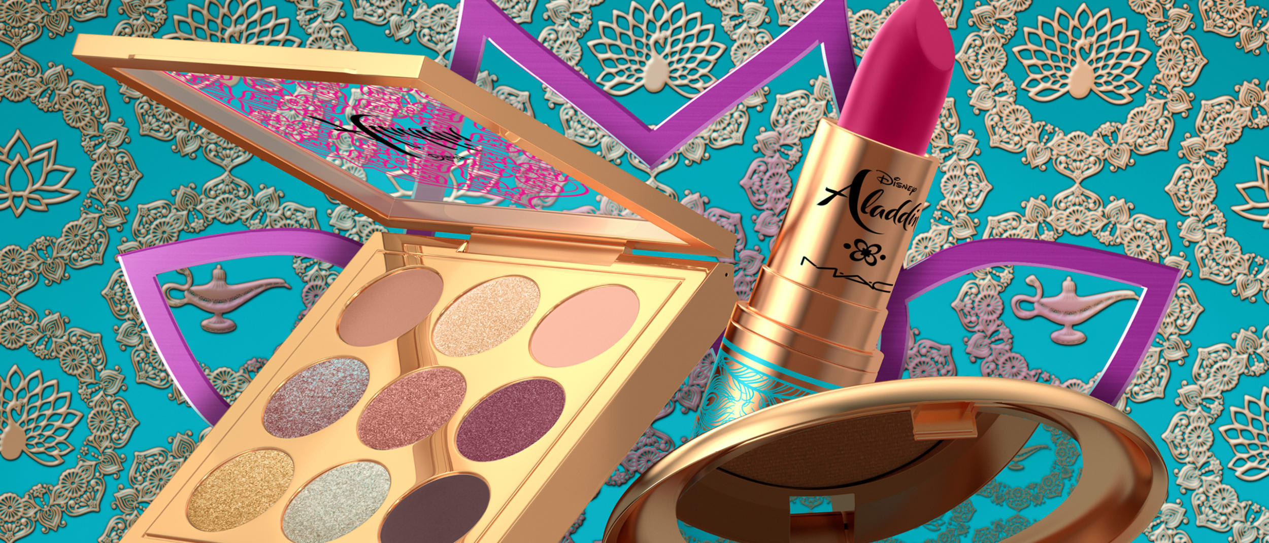 Fulfill your wish with Disney's Aladdin collection by M·A·C