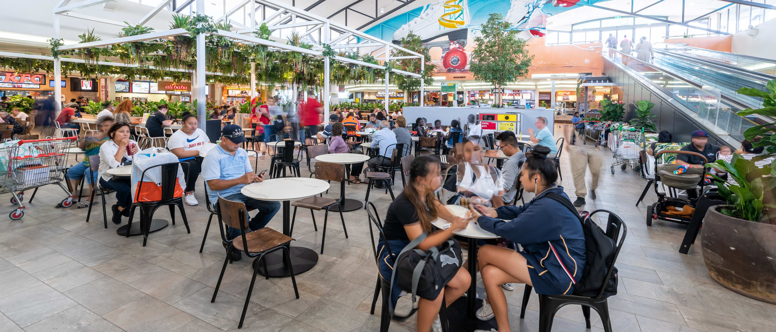 A new look Food Court, all your favourite retailers. Win, win.
