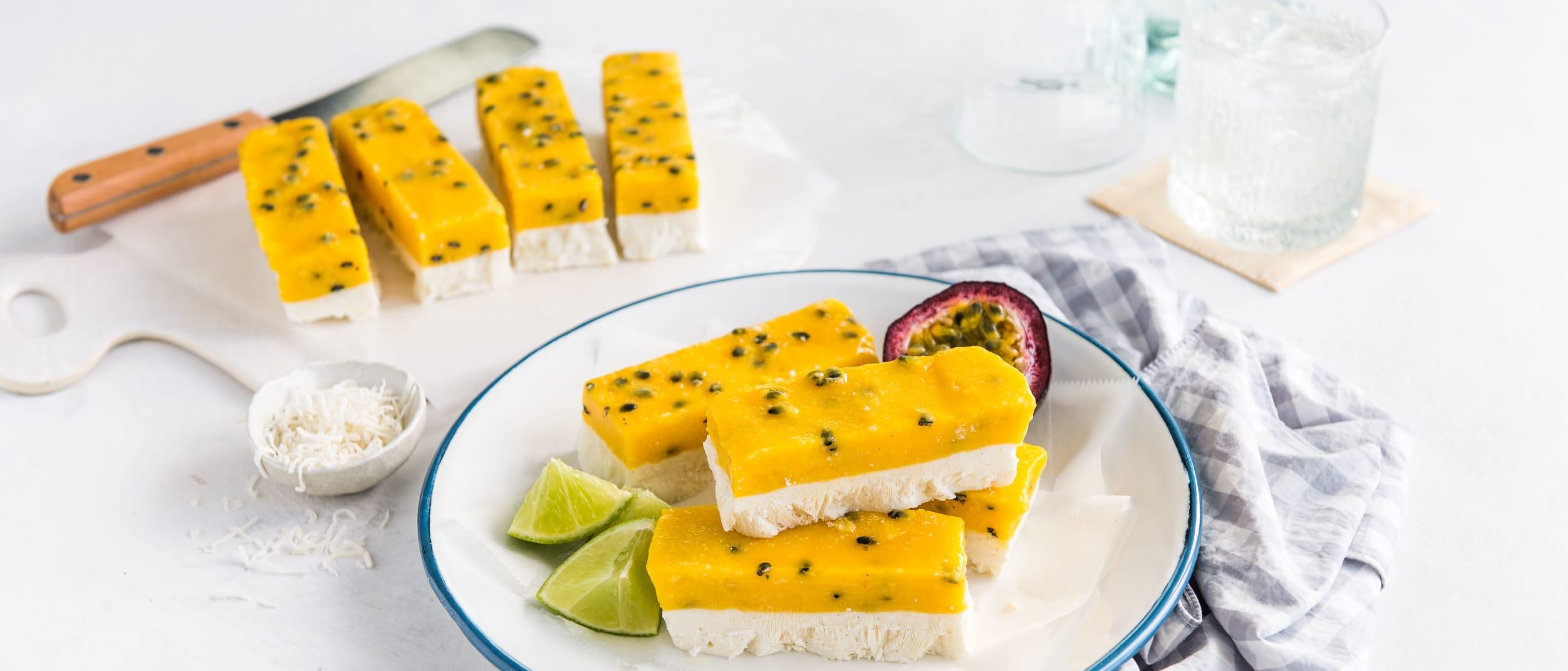 Recipe: Passionfruit Vanilla Ice-Block Bars