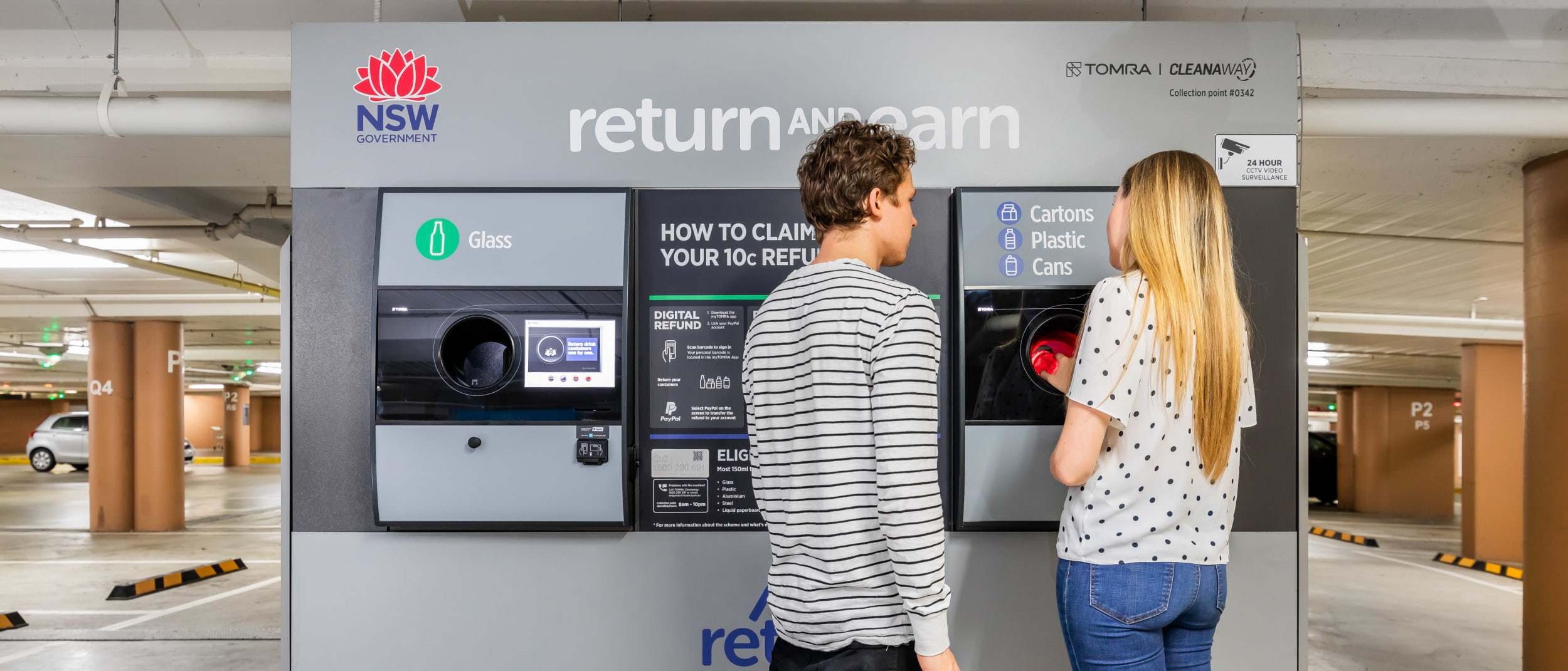 Introducing our brand new 'Return & Earn' station