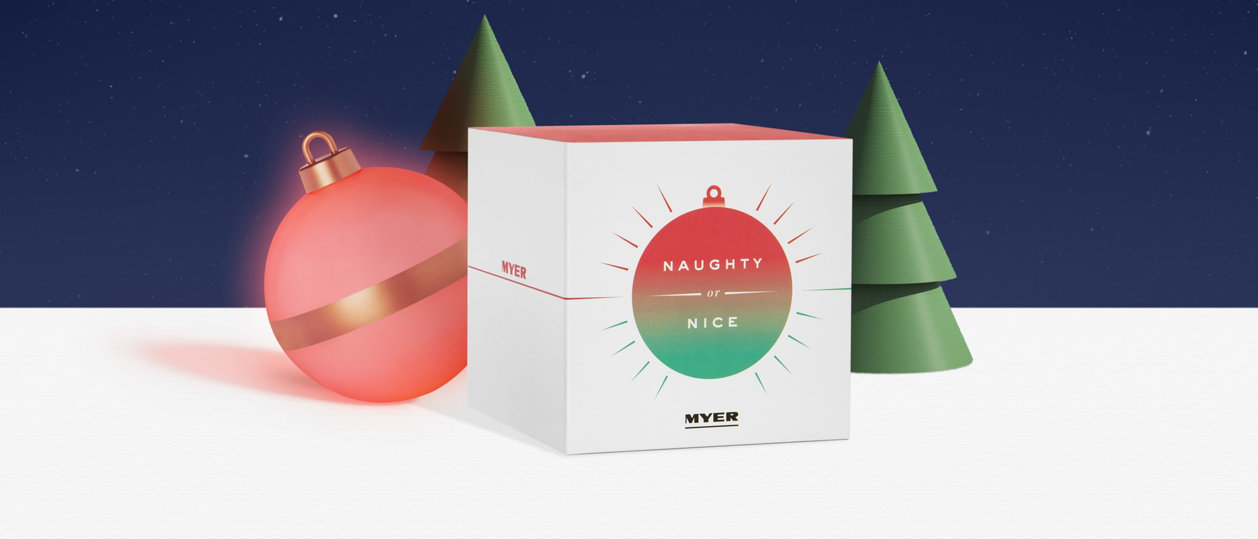 Myer Naughty or Nice Bauble
