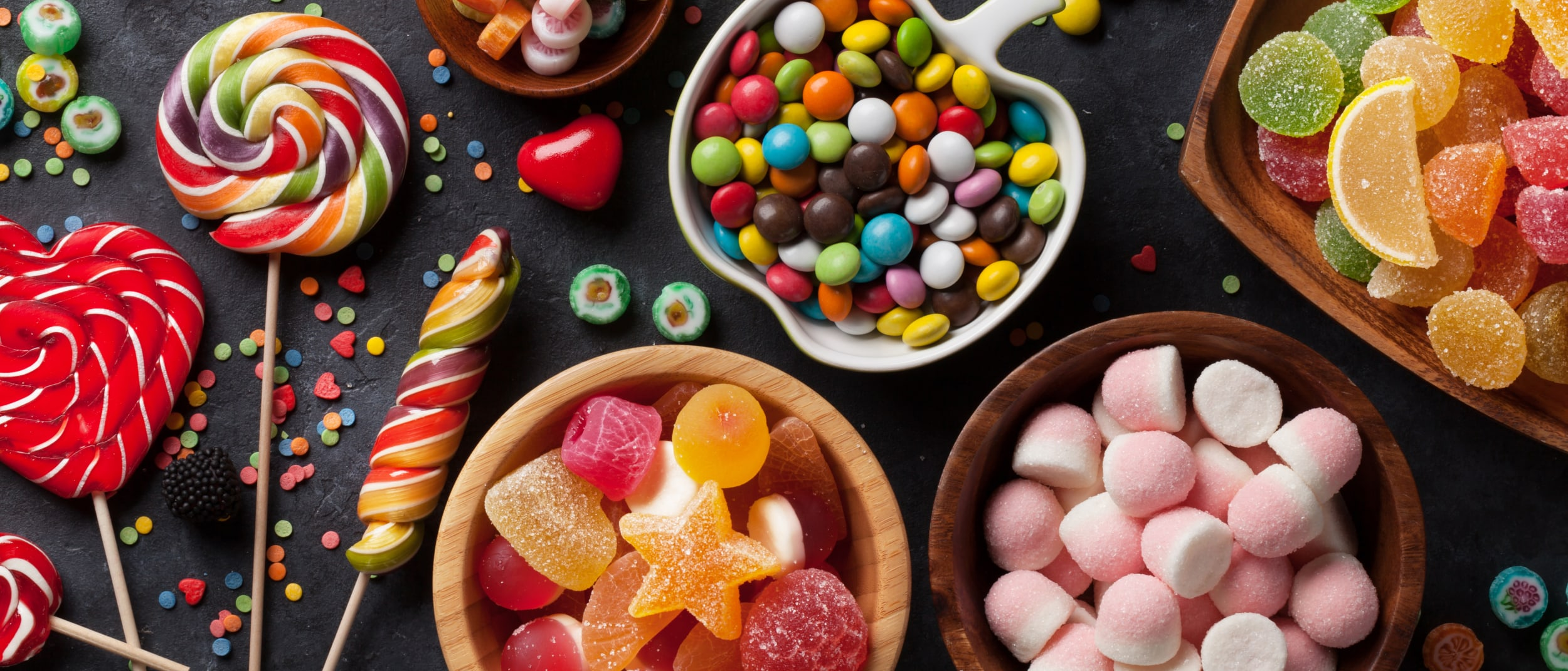 Table of lollies and sweets